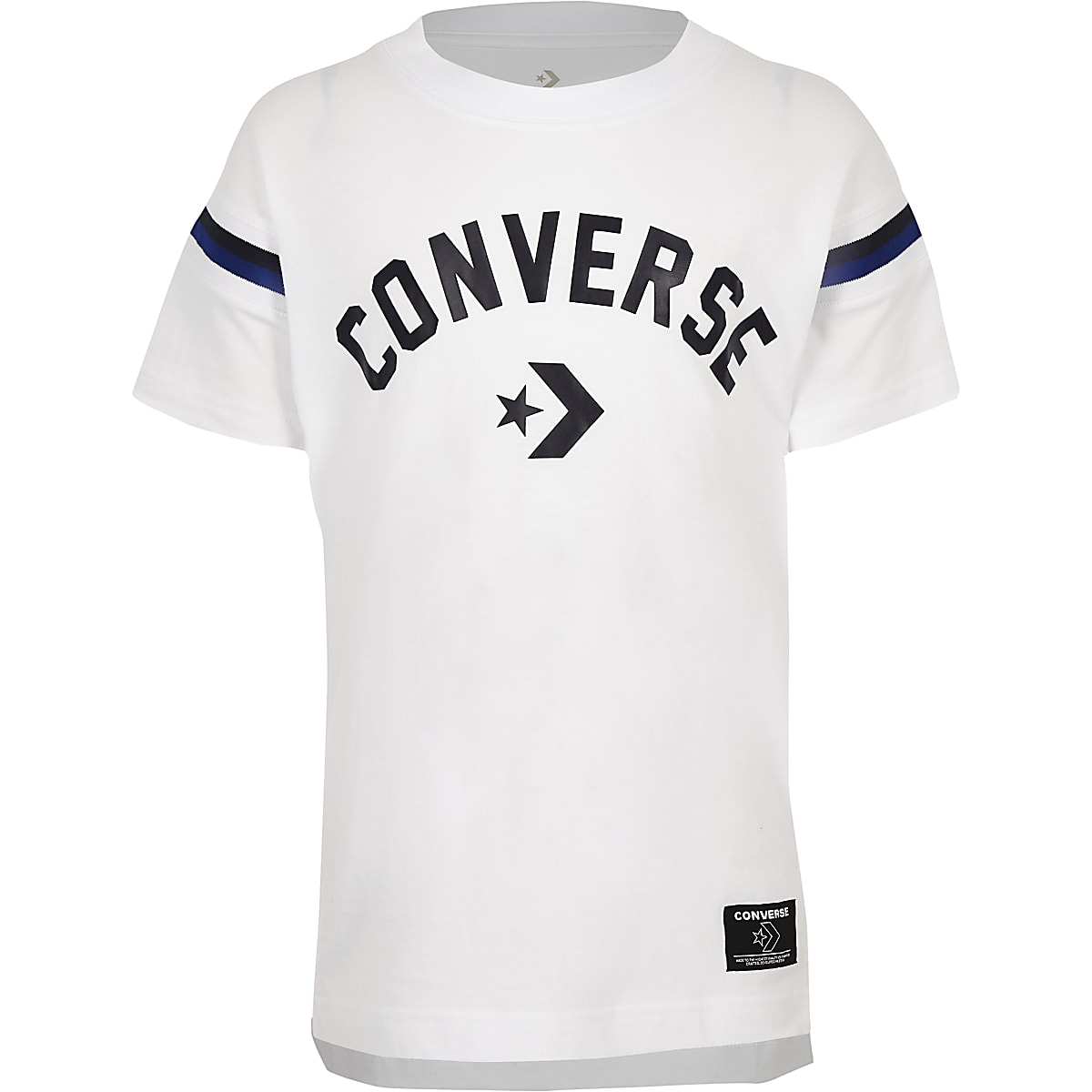 Converse – Weißes T-Shirt mit Logo