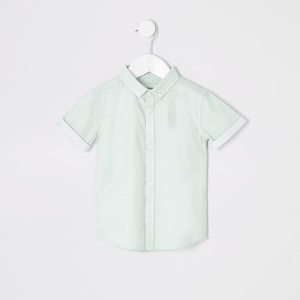 Mini boys green RI short sleeve shirt
