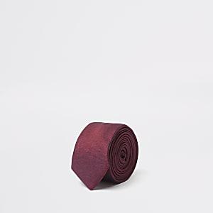 Rote, zweifarbige Krawatte