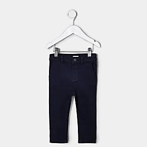 Pantalon habillé bleu marine mini garçon