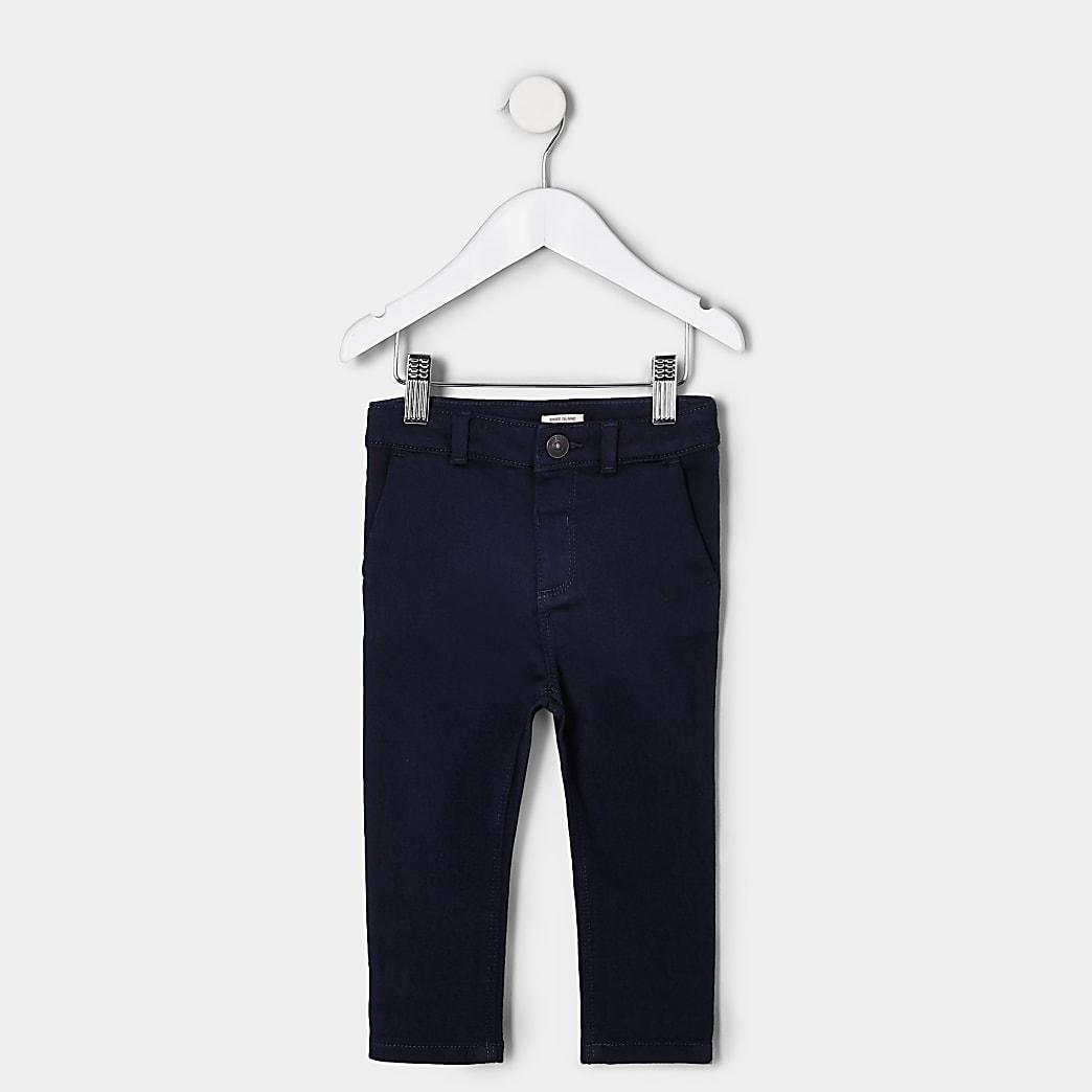 Mini boys navy smart trousers