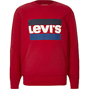 Boys Levi's red logo sweatshirt