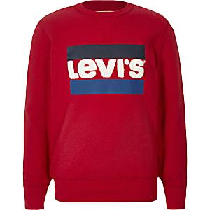 Levi's - Rood sweatshirt met logo voor jongens