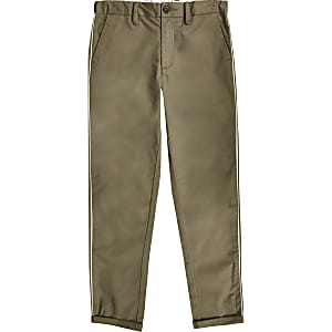 Boys khaki smart pants