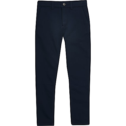 Boys navy smart trousers