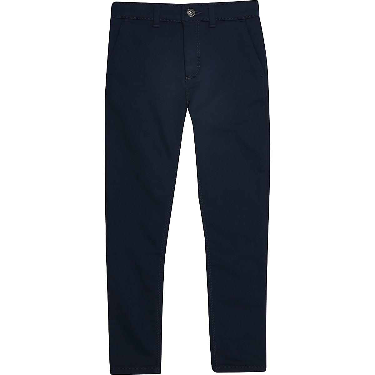 Boys navy smart pants