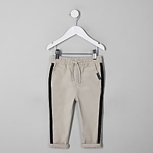 Mini boys stone straight leg chinos