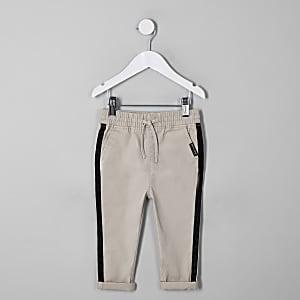 Pantalon chino droit grège pour mini garçon