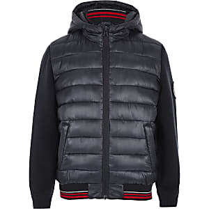 Marineblaue Hybrid-Steppjacke