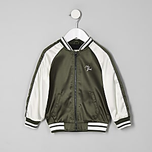 Mini boys khaki 'New York' bomber jacket