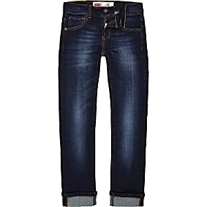 Levi's - Blauwe skinny denim jeans voor jongens