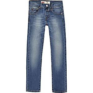 Levi's - Blauwe skinny-fit jeans voor jongens