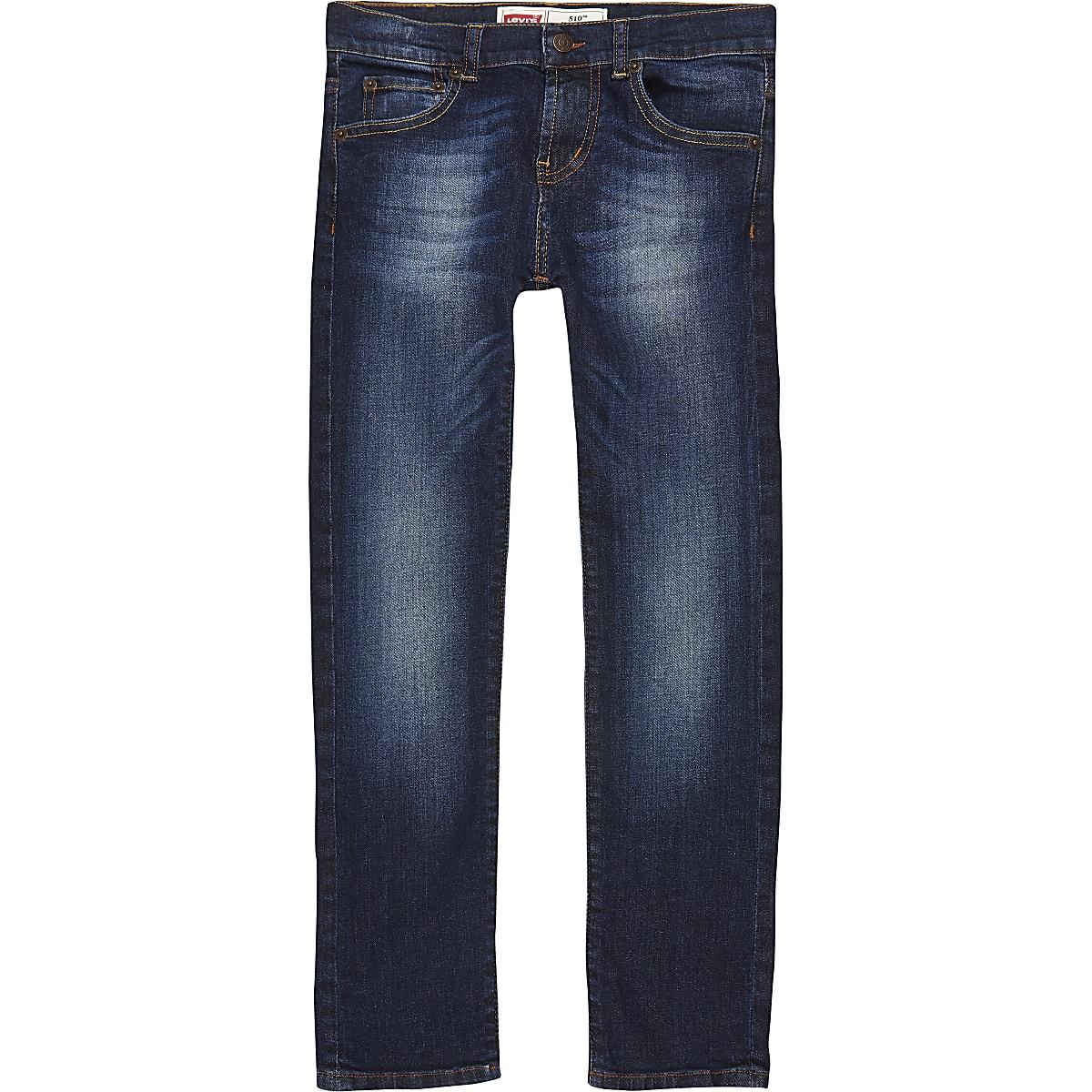 Levi's - Donkerblauwe skinny-fit jeans voor jongens