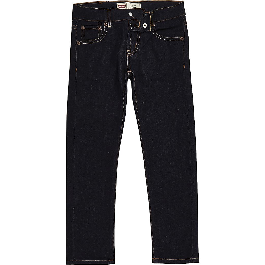 Boys Levi's dark blue skinny fit jeans