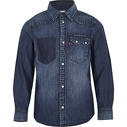 Boys blue Levi's denim shirt