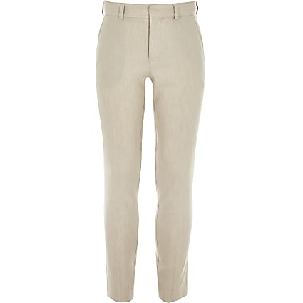 Boys ecru linen suit trousers