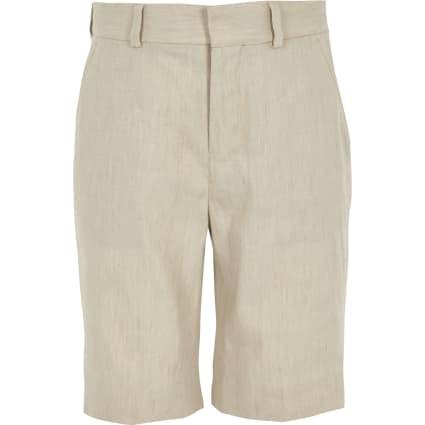 Boys ecru linen suit shorts