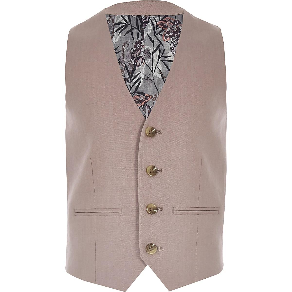 67ce0210da9b5 Boys pink linen suit waistcoat - Waistcoats - Suits - boys