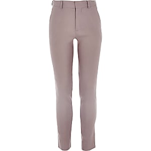 Pantalon de costume en lin rose pour garçon