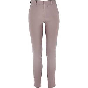 Roze pantalon van linnen voor jongens