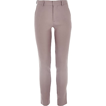 Boys pink linen suit trousers
