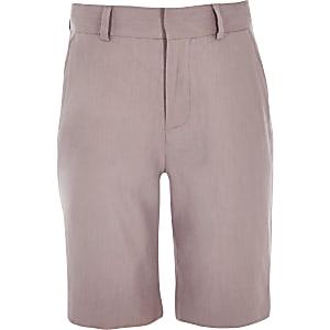 Short de costume en lin rose pour garçon