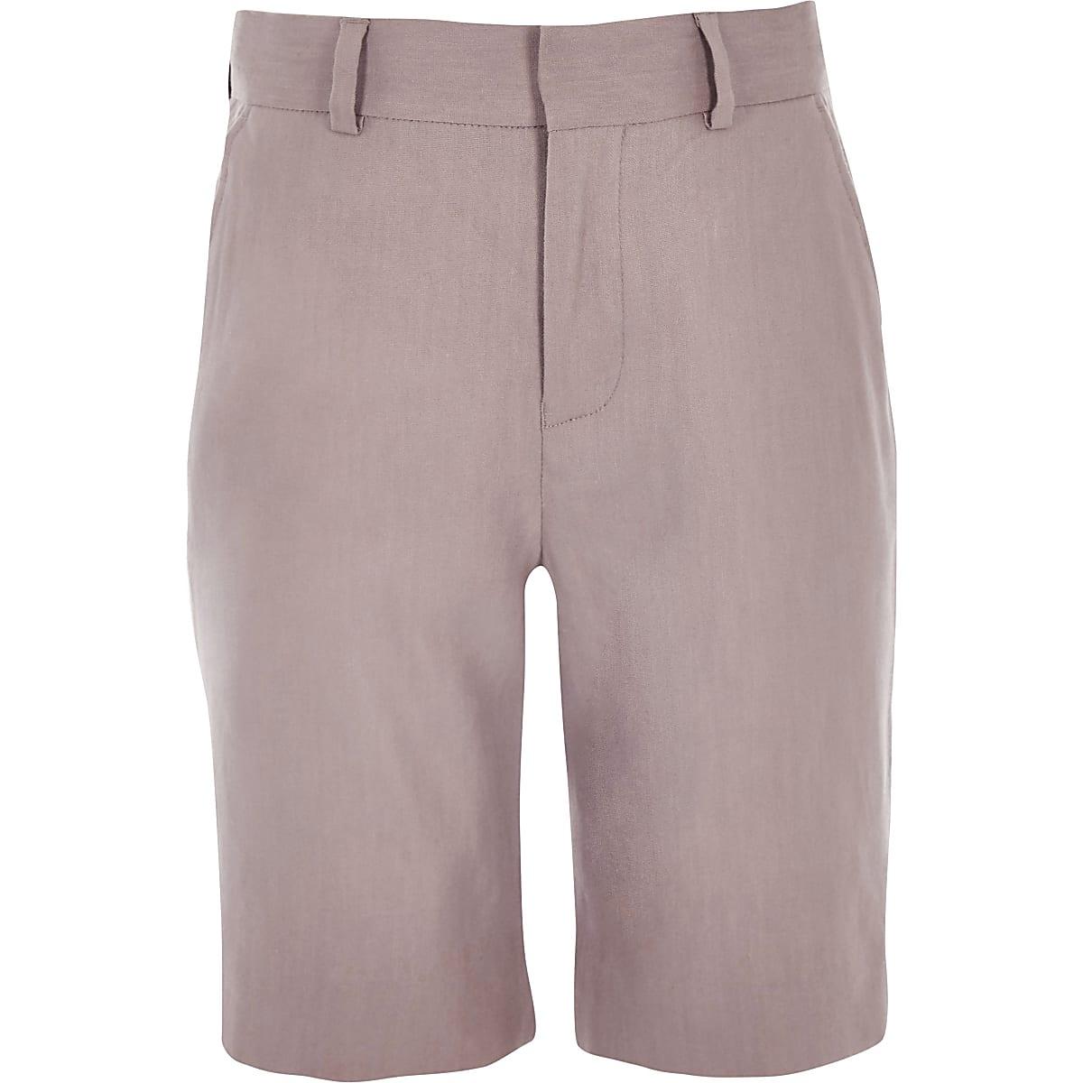 Boys pink linen suit shorts