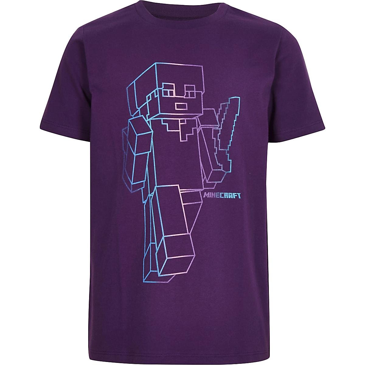 Minecraft – T-Shirt in Lila