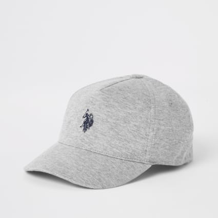 Boys grey U.S. Polo Assn. cap