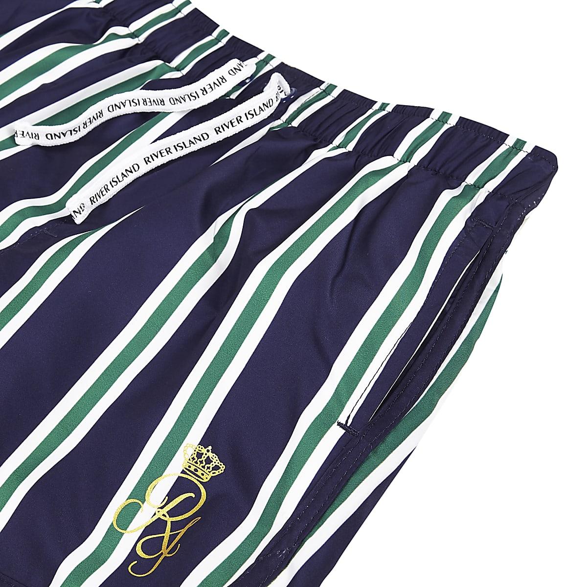 a330ce3cdb Boys navy stripe RI runner swim shorts - Swim Shorts - boys