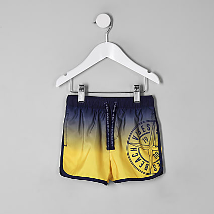 Mini boys ombre runner swim shorts