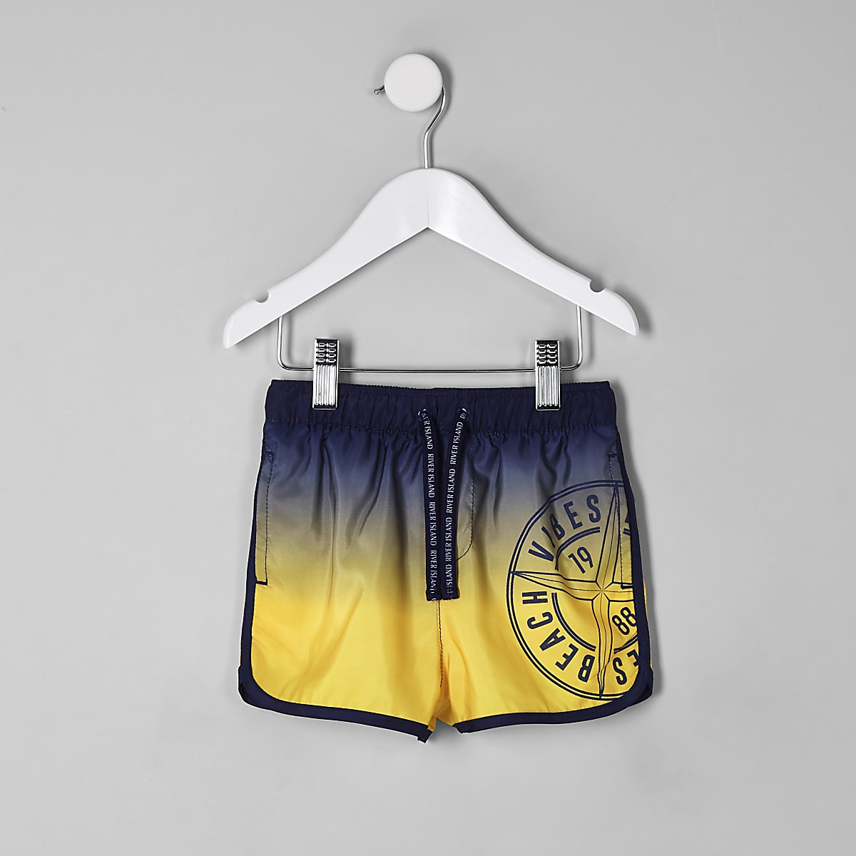 Mini boys ombre runner swim trunks