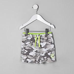 Short de bain camouflage gris pour mini garçon