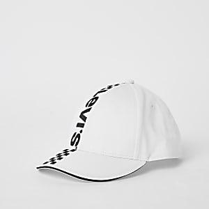 Levi's – Casquette imprimé course noire et blanche pour enfant