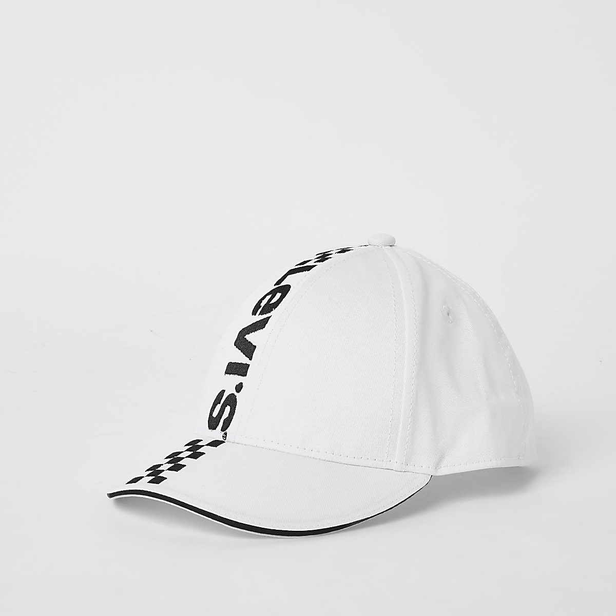 Kids white Levi's mono racing cap