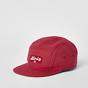 Boys red Levi's logo cap