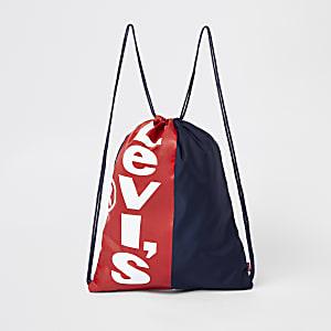 Levi's - Marineblauwe tas met trekkoord voor kinderen