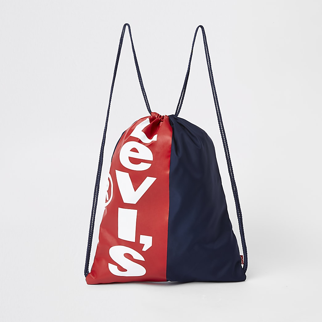 Kids Levi's navy drawstring bag