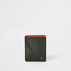 Boys khaki camo foldout wallet