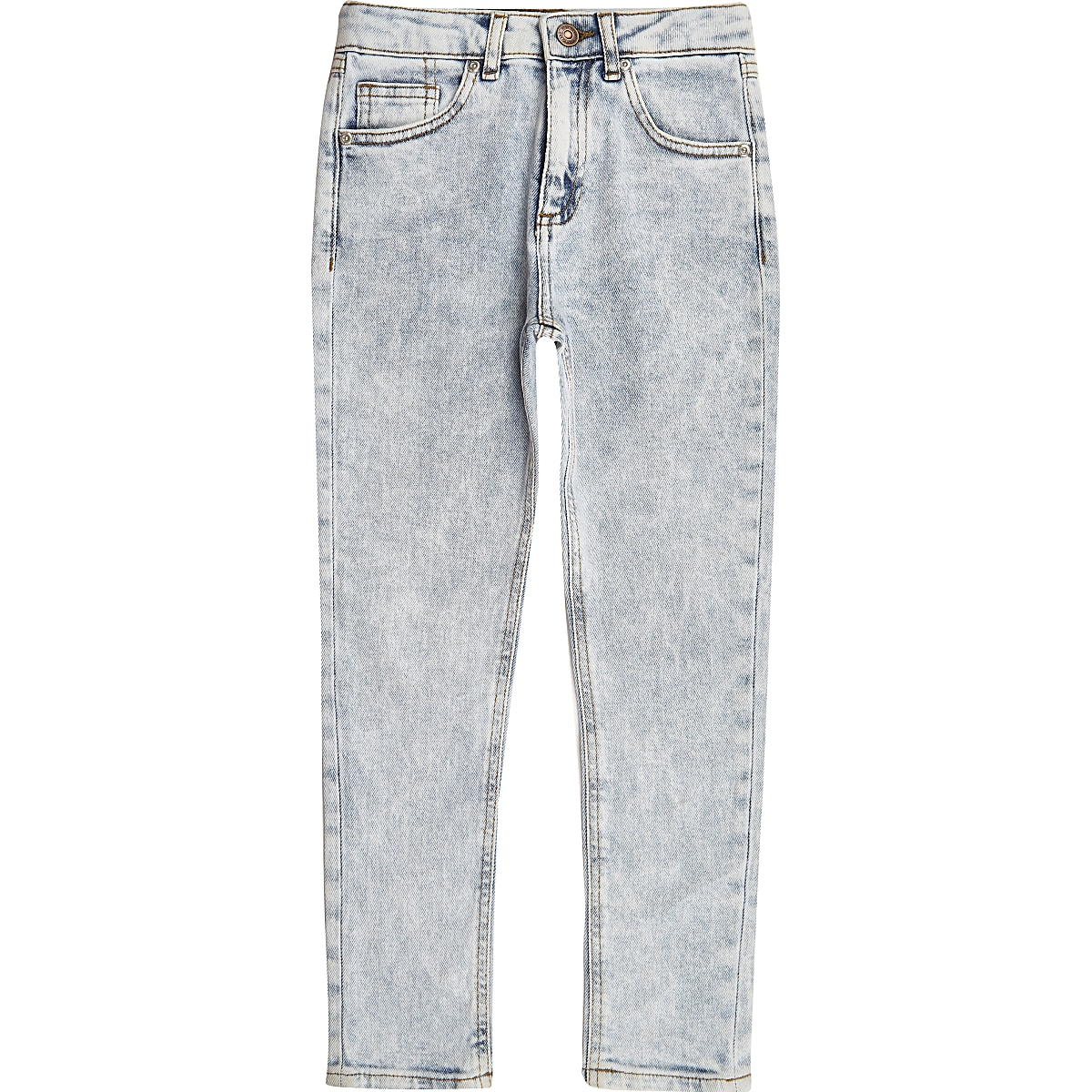 Boys light blue wash Sid skinny jeans