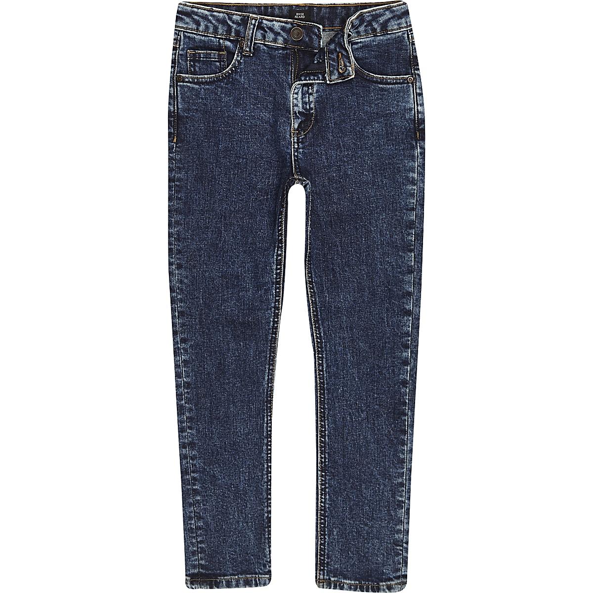 Boys dark blue Sid skinny jeans
