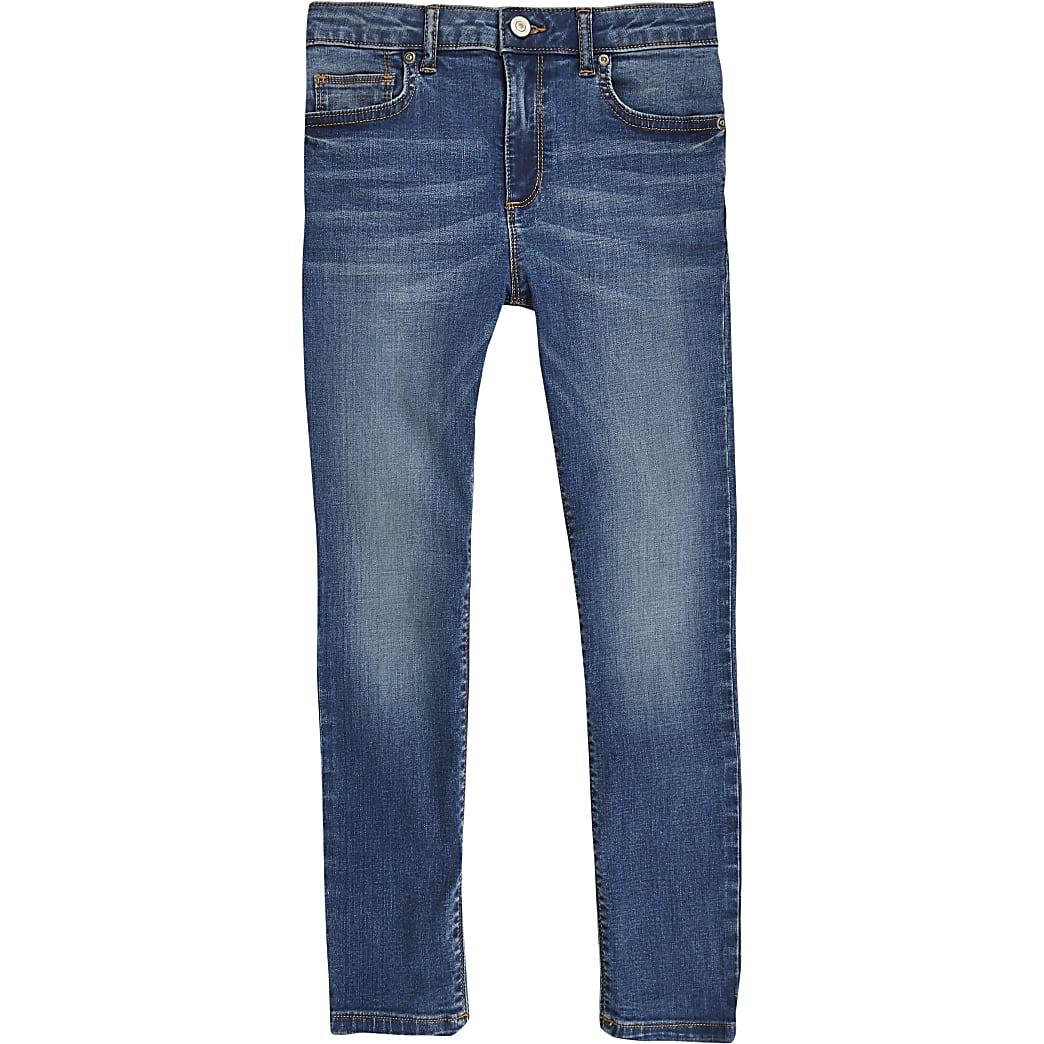 Boys mid blue Danny super skinny jeans