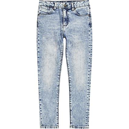 Boys light blue Danny acid super skinny jeans