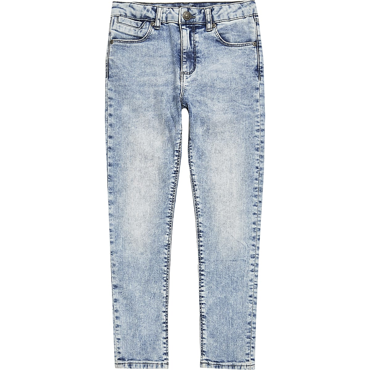 Boys light blue Danny acid super skinny jeans