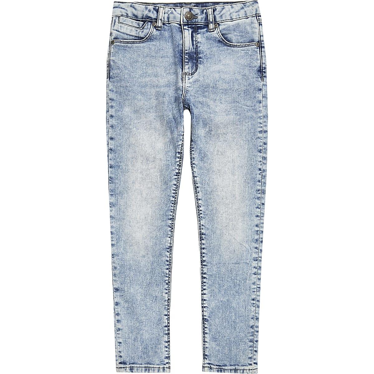 Light blue Danny acid super skinny jeans