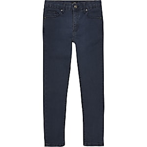 Boys dark blue Danny super skinny jeans