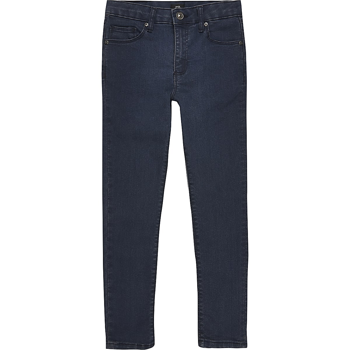 Boys dark blue Danny super skinny jeans