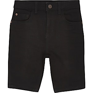 Sid – Schwarze Skinny Jeansshorts