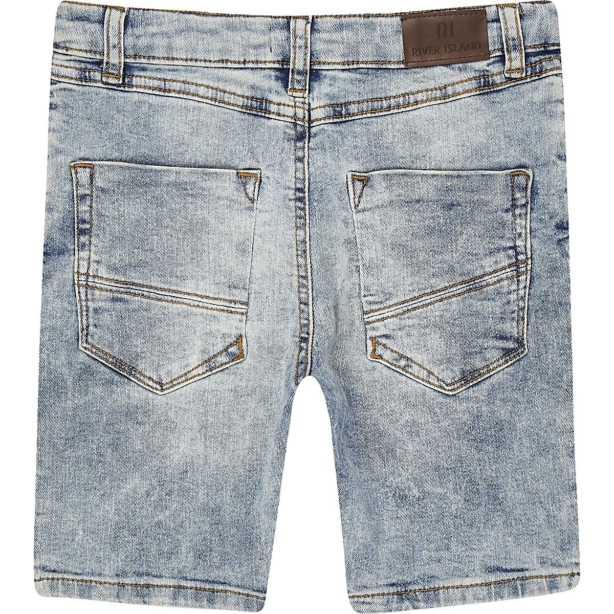 0c05de18bd Boys light blue Sid skinny denim shorts - Denim Shorts - Shorts - boys