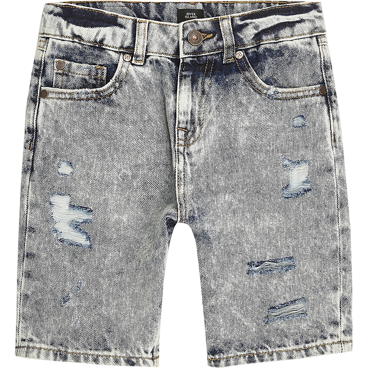 45c4b941a6 Boys mid blue ripped skater denim shorts - Denim Shorts - Shorts - boys